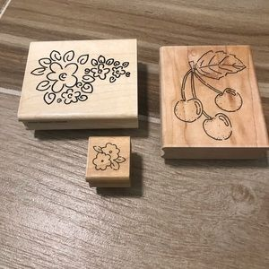 JRL Design Company Flowers and Cherries Stamps!
